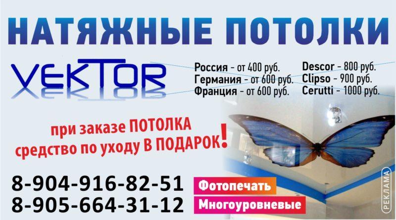 Натяжные потолки «ВЕКТОР»