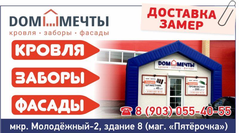 ДОМ МЕЧТЫ (заборы, кровля, фасады)