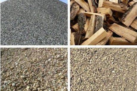 Шлак, грунт, отсев, песок, срезки, горбыль