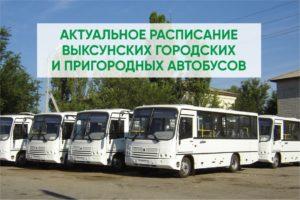 Актуальное расписание выксунских городских и пригородных автобусов
