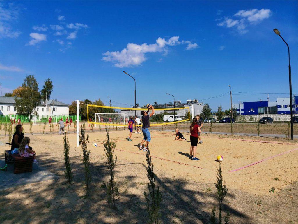 В Выксе завершены работы по созданию двух общественных пространств