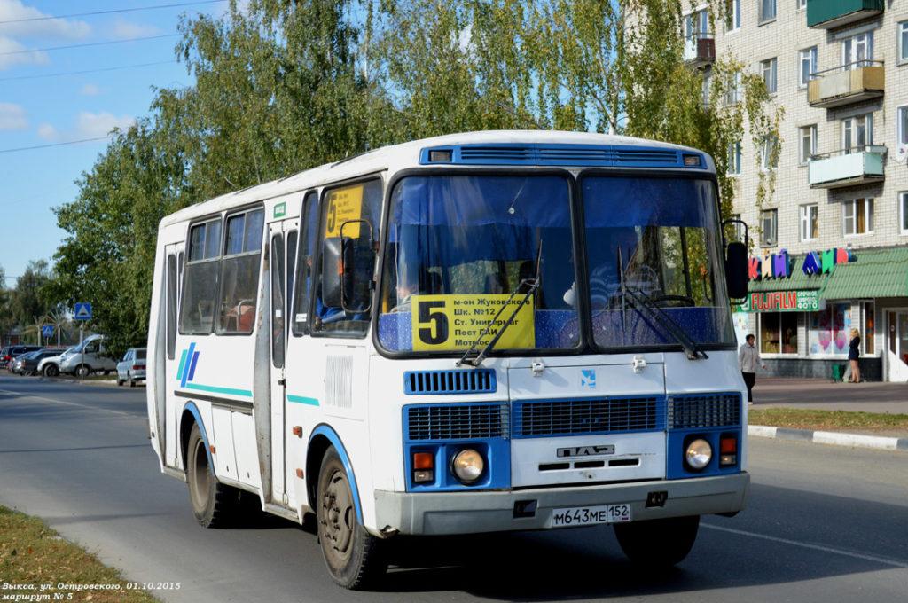С 23 ноября возобновляется прежнее расписание выксунских автобусов