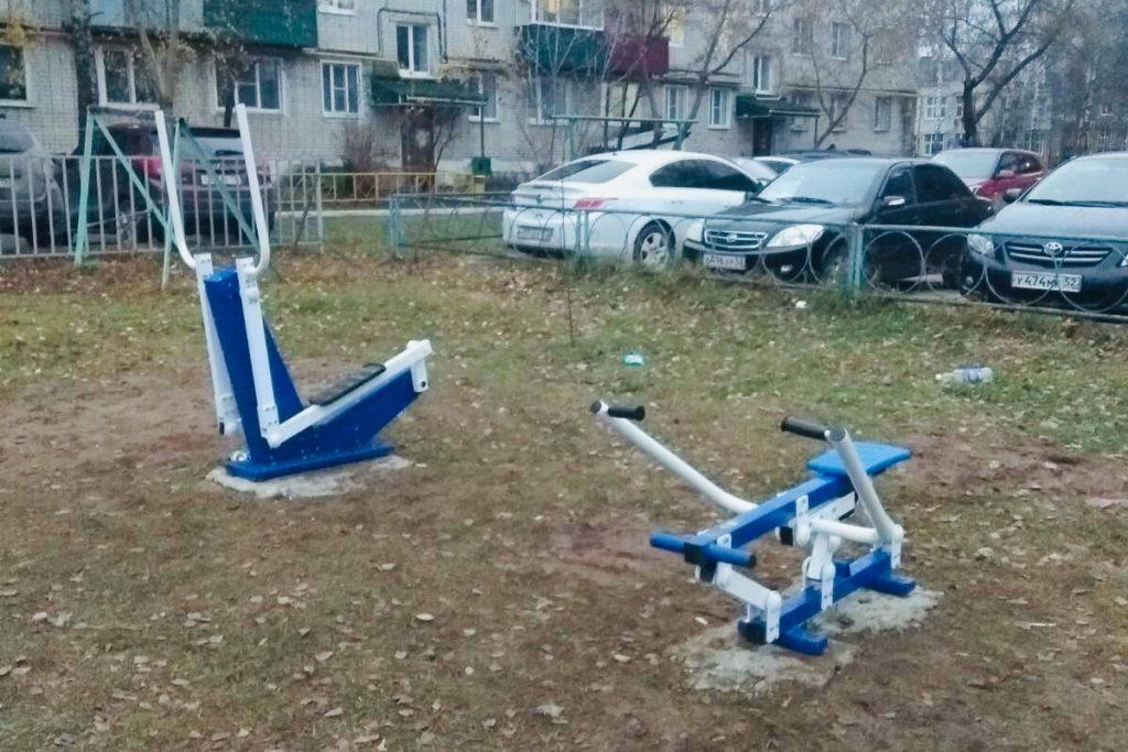В районе дома №8 микрорайона Юбилейный появились спортивные тренажеры