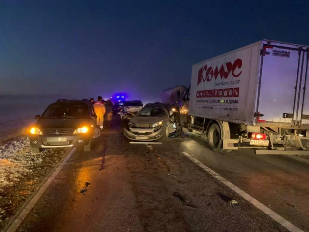 На трассе в Нижегородской области столкнулись девять автомобилей
